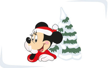 Christmas with Mickey Mouse - Free vector #168577