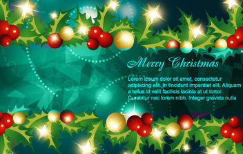 Corner and border christmas design - vector gratuit #168657