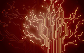 Red Technology Background - Free vector #168687