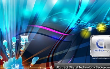 Abstract Digital Technology Background - Free vector #168727