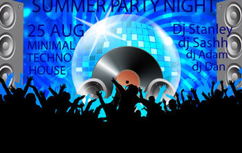 Club Poster - vector #168767 gratis