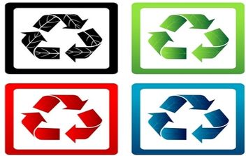 Set of Vector Recycle Symbols - vector gratuit #168947