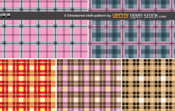 5 Checkered cloth pattern - vector gratuit #168957