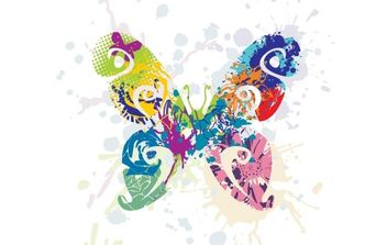 Abstract Butterfly Vector Graphic - Free vector #169087