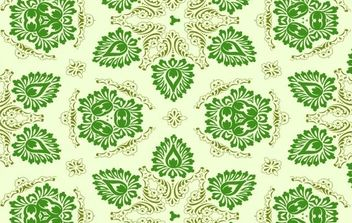 Vector Green Seamless Floral Ornament - бесплатный vector #169117