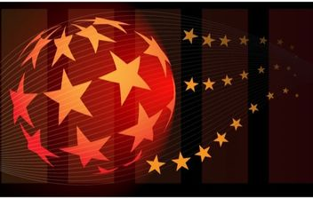 Star Ball Abstract Vector - Free vector #169137