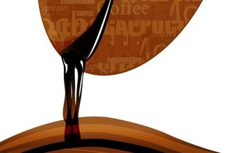 Dripping Coffee Bean - vector gratuit #169157
