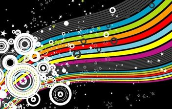 Rainbow and circles - Free vector #169237