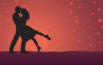 Valentines Day Couple - Free vector #169297