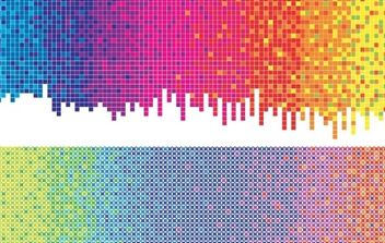 Vector rainbow background dots - vector #169357 gratis