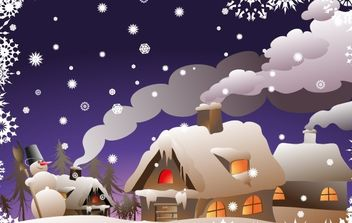 Winter Christmas Vector Illustration - бесплатный vector #169497