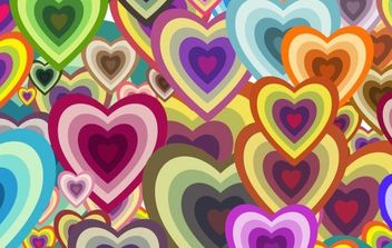 WALLPAPER HEART FREE VECTOR - бесплатный vector #169577