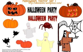 Halloween Vector Set 1 - Kostenloses vector #169767