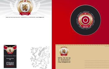 Corporate Identity Template white and red - vector gratuit #169867