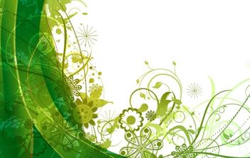 Free green vector summer background - vector gratuit #170047