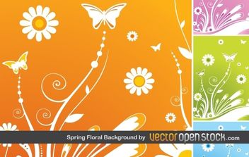 Spring Floral Background - vector #170097 gratis