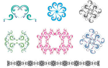 New free set: Colorful ornaments & patterns - vector #170107 gratis
