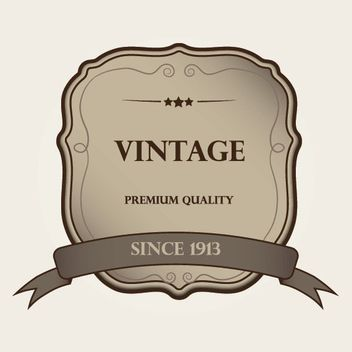 Decorative Vintage Label Template, - Kostenloses vector #170257