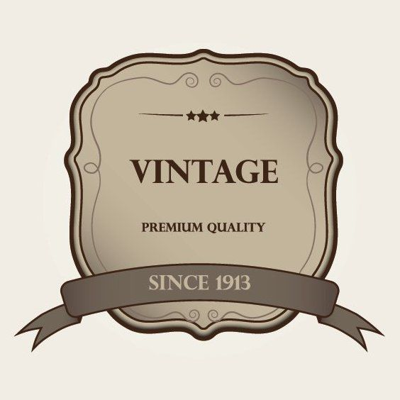 Decorative Vintage Label Template, - Free vector #170257