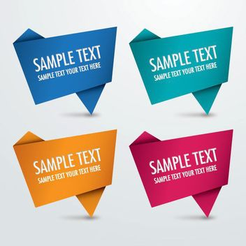 Abstract Origami Sign Pack - Free vector #170267