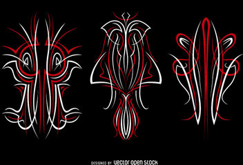 3 pinstripes graphics Vinyl ready - vector gratuit #170287