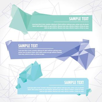 Crystallized Abstract Triangles Banner Set - vector gratuit #170297