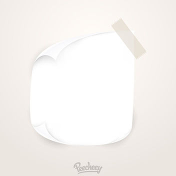 Curly Edged Blank Tapped Note - Free vector #170427