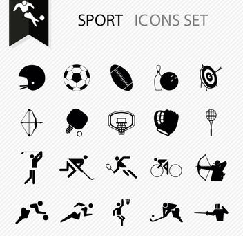 Flat Minimal Sports Icon Pack - Free vector #170437