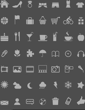 Flat Modern Web & App Icons - Free vector #170477