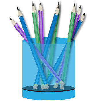 Multicolored Pencils in Pot - Free vector #170557