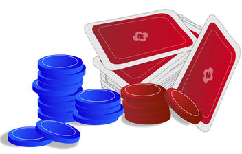 Casino Poker Game Chips & Cards - Free vector #170577