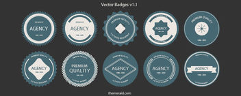 Round Shaped Badge & Label Set - vector #170597 gratis