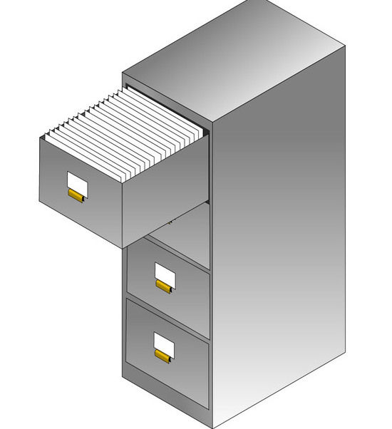 Filing Metal Isometric Cabinet - Kostenloses vector #170637