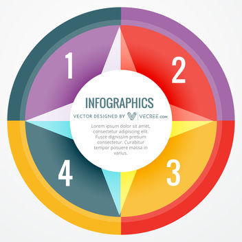 Creative Abstract Colorful Circular Infographic - vector #170707 gratis