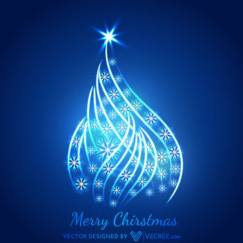 Glowing Xmas Tree Shaped Wavy Spiral Curves - Free vector #170717