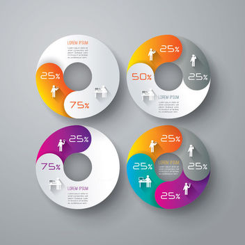 Creative Circular Chart Business Infographic - vector gratuit #170747