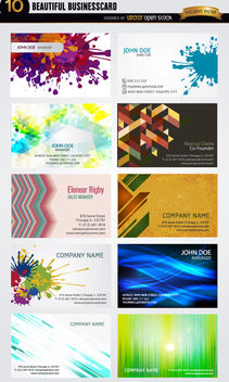 10 Artistic business card abstract designs - Free vector #170797