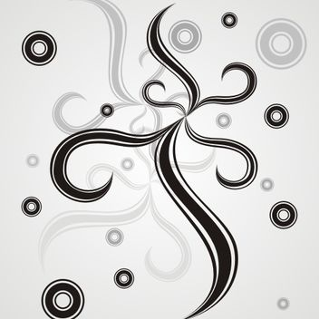 Circles and swirls - vector gratuit #170877