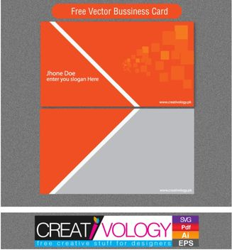 Abstract Front & Back Business Card Template - vector gratuit #170897
