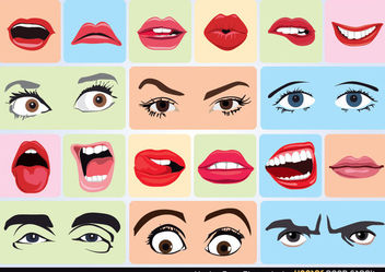 Vector Face Elements - vector #170907 gratis