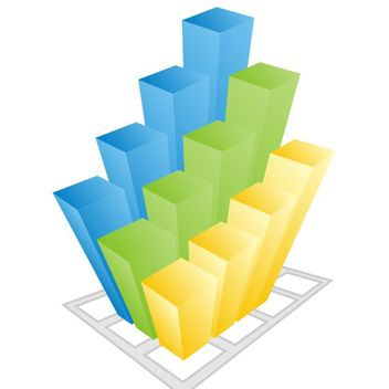 Colorful business 3d Graph - vector gratuit #170917