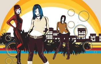 City Girls - vector gratuit #171107