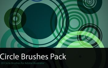 Circles Brush Pack - vector gratuit #171177