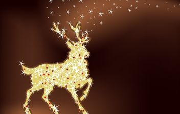 Magic christmas reindeer - Free vector #171197