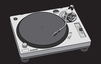 Free vector turntable - Kostenloses vector #171217