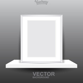 Blank Frame on 3D Shelf - vector gratuit #171427