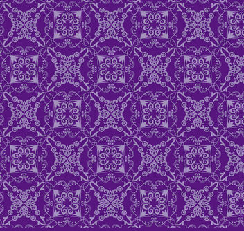 Floral ornament purple pattern - Free vector #171447