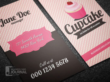 Decorative Bakery Shop Business Card - Kostenloses vector #171487