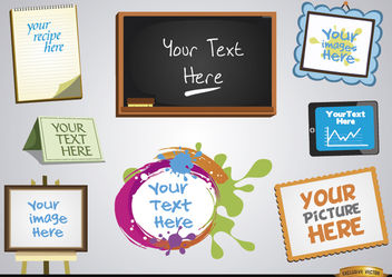 Frames for messages and images set - Free vector #171637