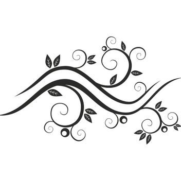 Abstract floral waves - vector #171647 gratis